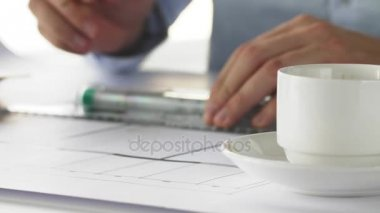 Close up of waitress hands putting two cups of coffee to the table close up of architect drinking coffee malvernweather Choice Image