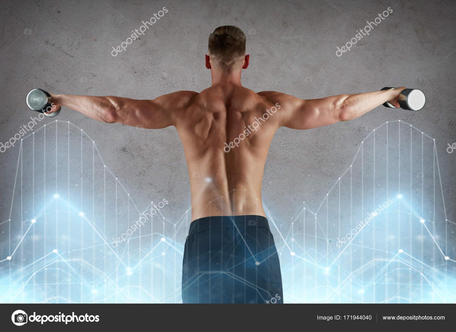 hombre con pesas ejercicio — Fotos de Stock © Syda_Productions ...