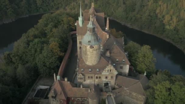 Letecký snímek starožitný hrad