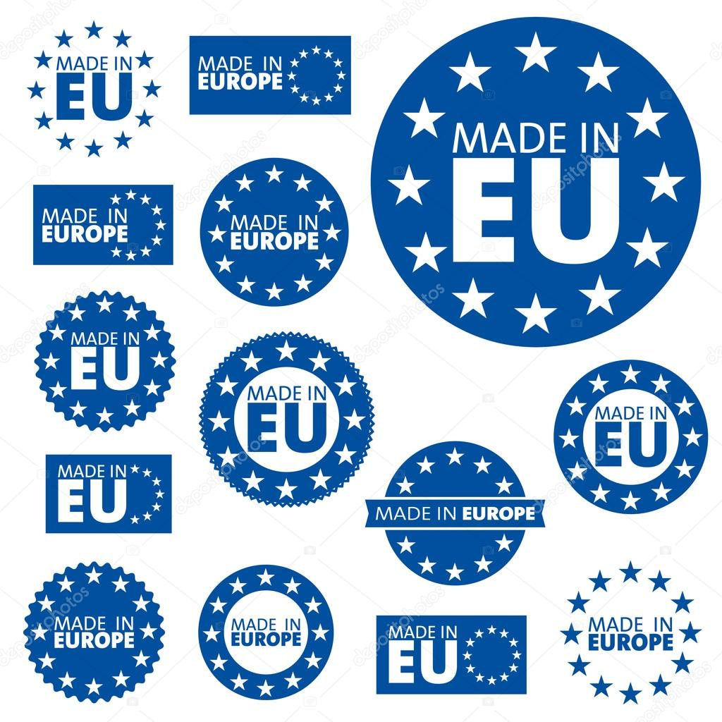Wonderbaarlijk Made in European Union labels — Stock Vector © alvaroc #125924320 LZ-87