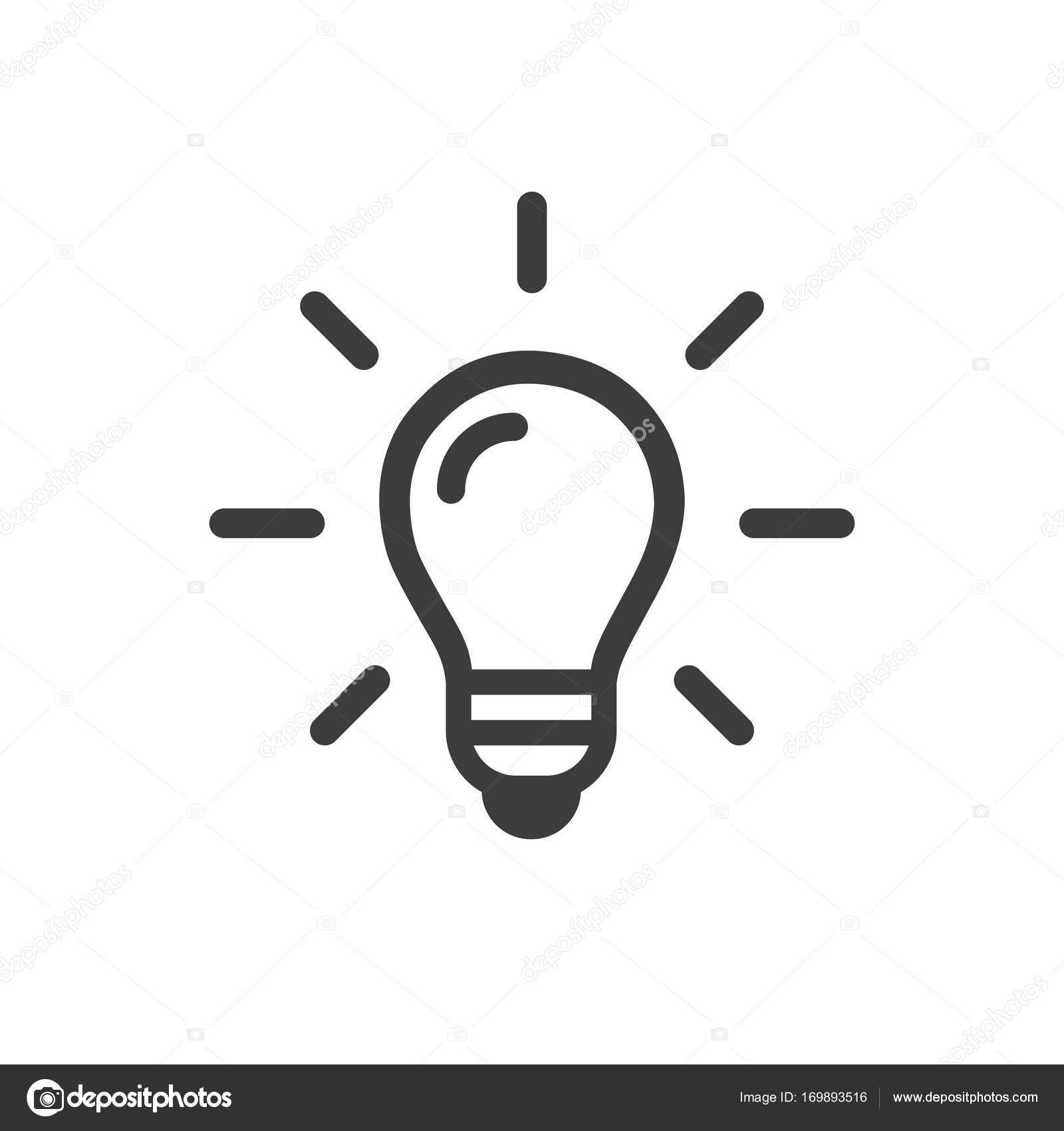 Idea Sign Solution Thinking Concept Lighting Electric Lamp Electricity Shine Trendy Flat Style For Graphic Design Web Site Vector By Alvaroc