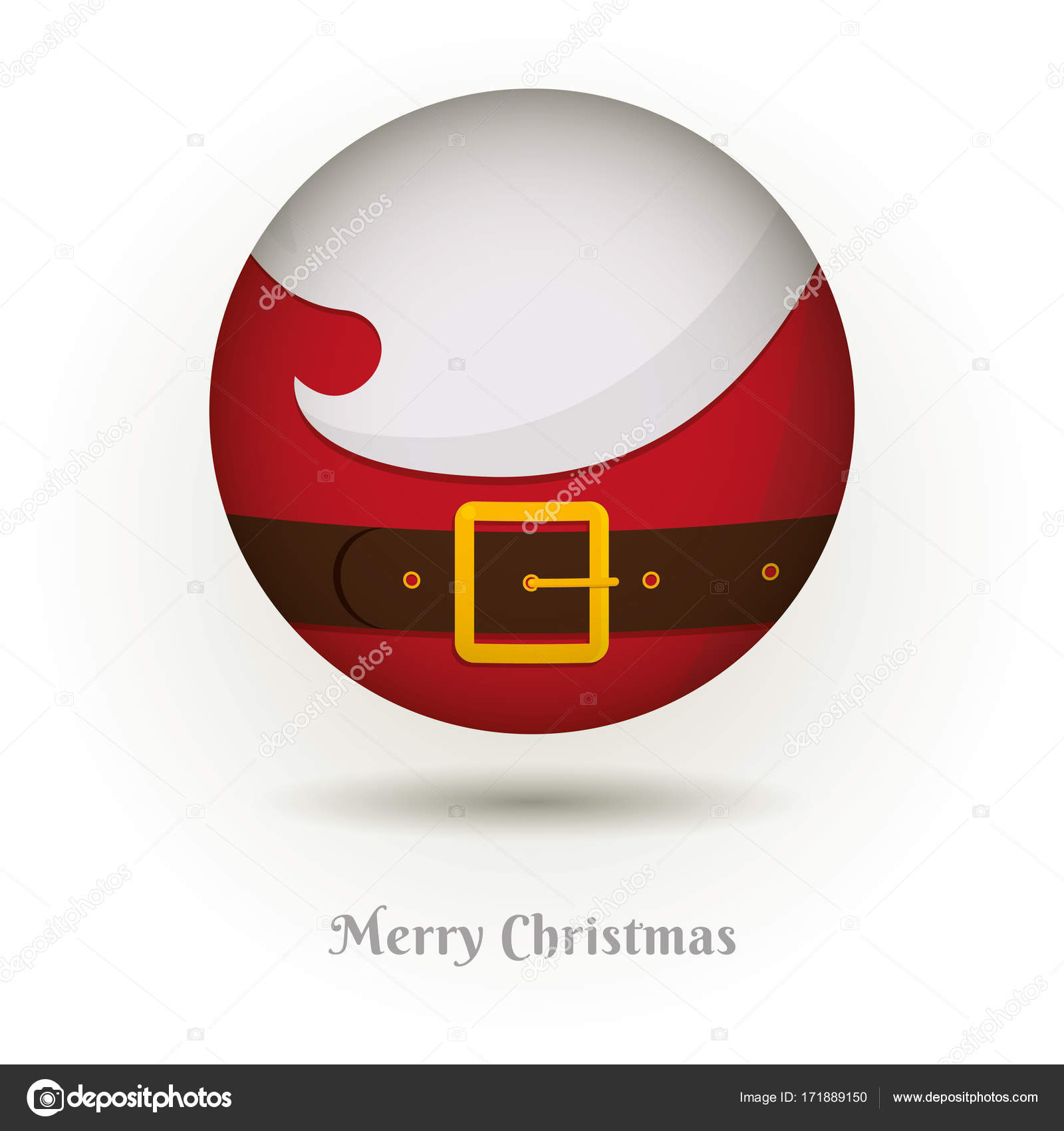 The Beard Of Santa Claus Icon Vector Illustration For New Year And