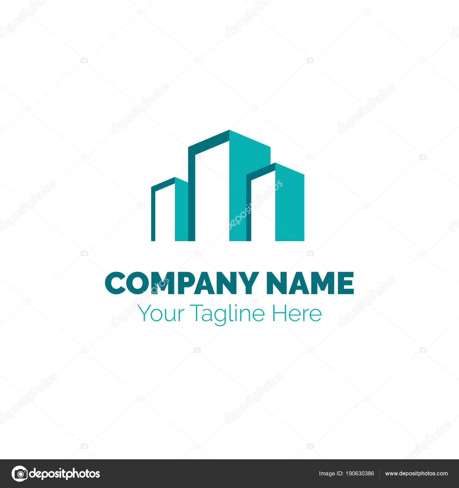 Real Estate-Logo Design-Vektor-Vorlage. Bau Bau Entwicklung Logo ...