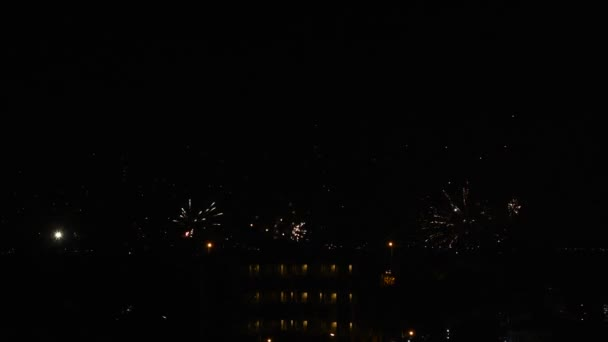 fire work night happy new year firework thailand stock video 178788728