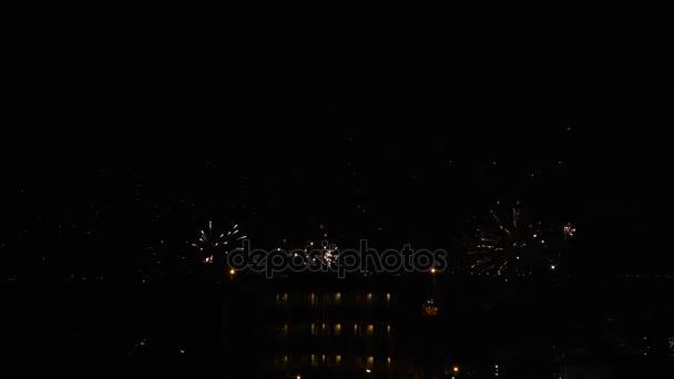 fire work night happy new year firework thailand stock video 178788728