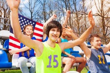 American teenage sport fans