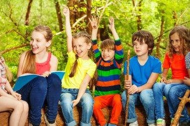 children having fun in summer camp