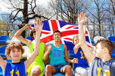 British fans supporting their team