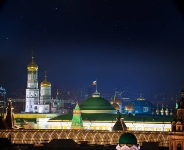 Moscow downtown at night