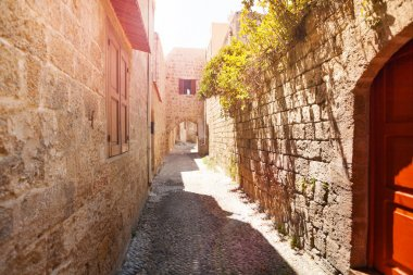 Ancient street of old town on Rhodes