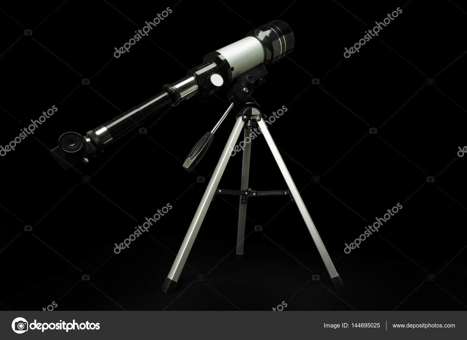 Teleskop auf stativ stehend u stockfoto serrnovik