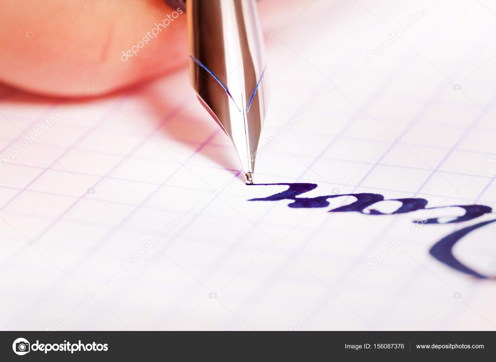 Woman hands making notes — Stock Photo © serrnovik #156087376