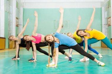 girls doing exercise