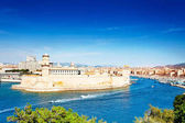Fort Saint-Jean at the entrance to the Old Port in Marseille, France