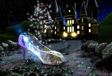 Cinderella's crystal shoy