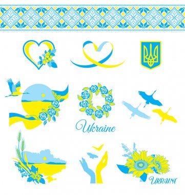 Decorative elements in the Ukrainian style