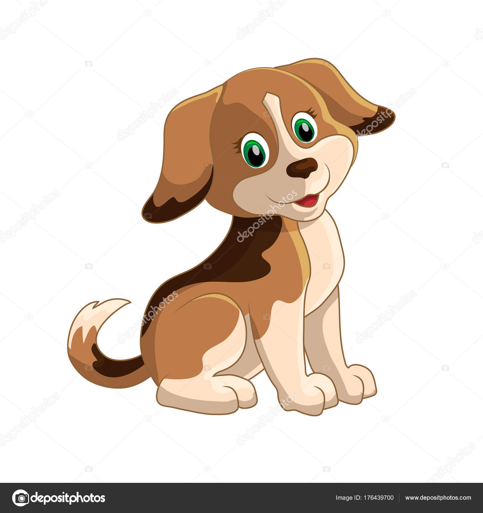 cute funny cartoon dogs vector puppy pet characters different breads