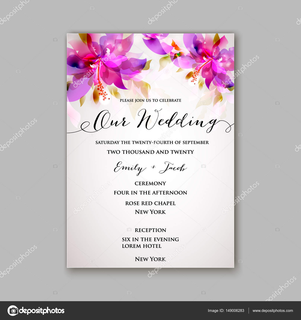Elegant Romantische Rosa Pfingstrose Bouquet Braut Hochzeit Einladung Template Design  U2014 Stockvektor