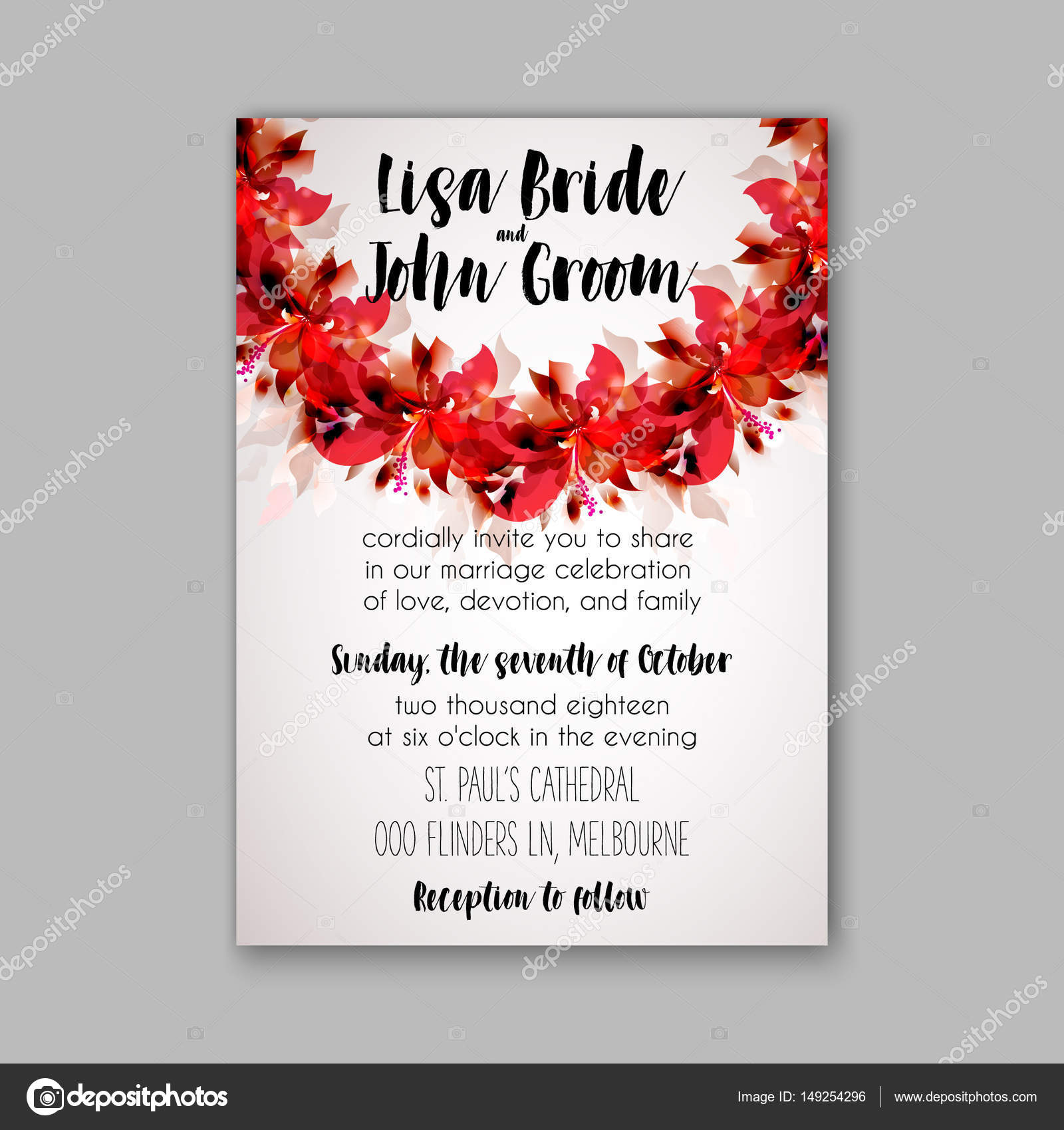 Modern Wedding Invitation By Bride Pictures - Invitations and ...