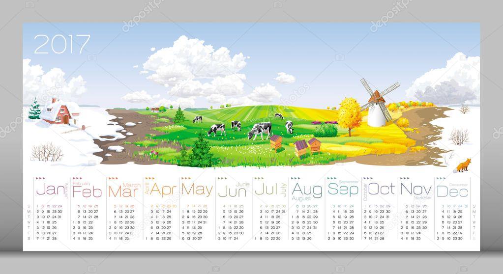 Four seasons Calendar 2017
