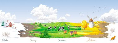 4 seasons panorama