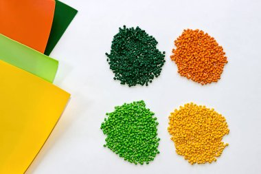 Polymeric dye. Plastic pellets. Colorant for  the granules.  Polymer beads