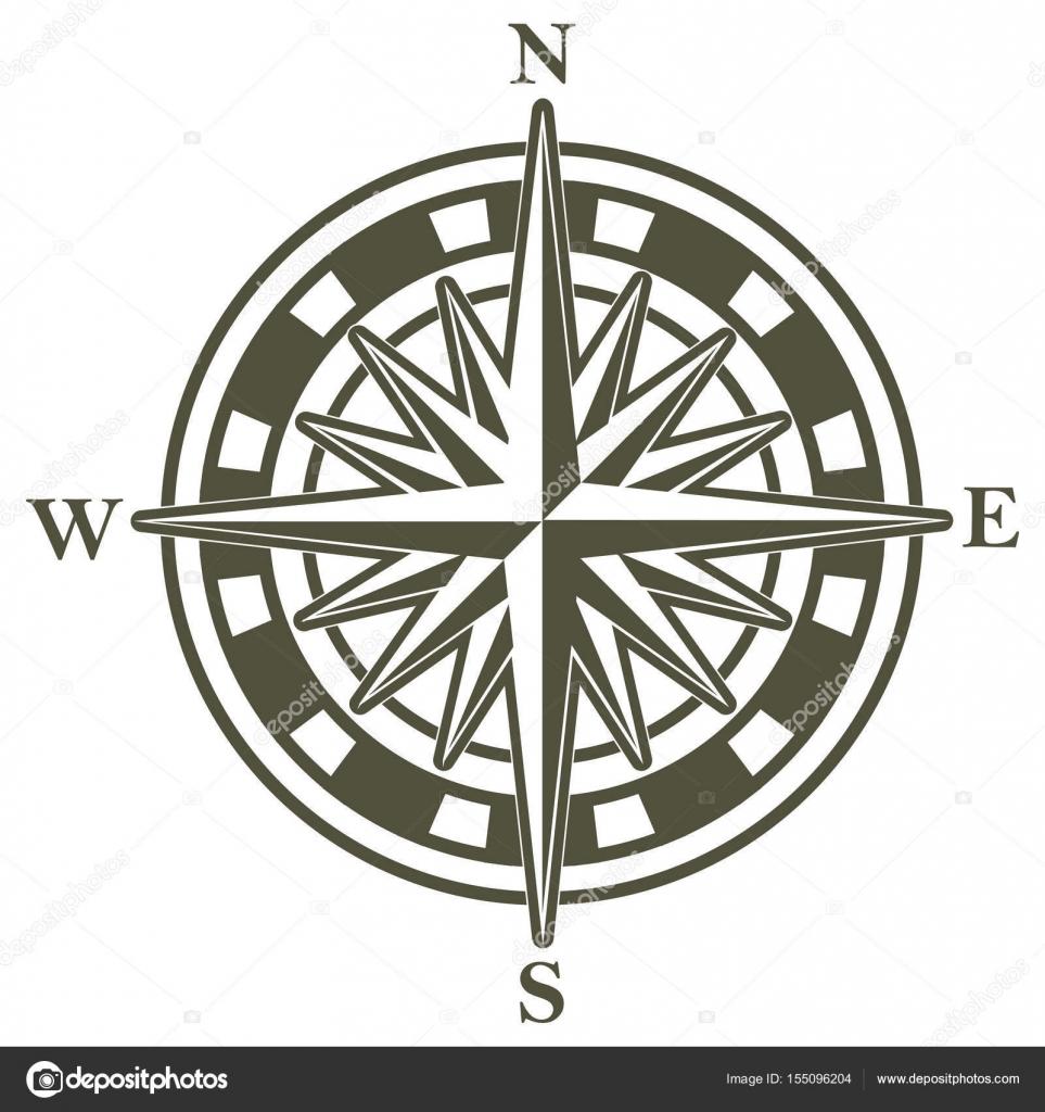 Disegno Di Una Bussola Vettoriali Stock Kjolak 155096204