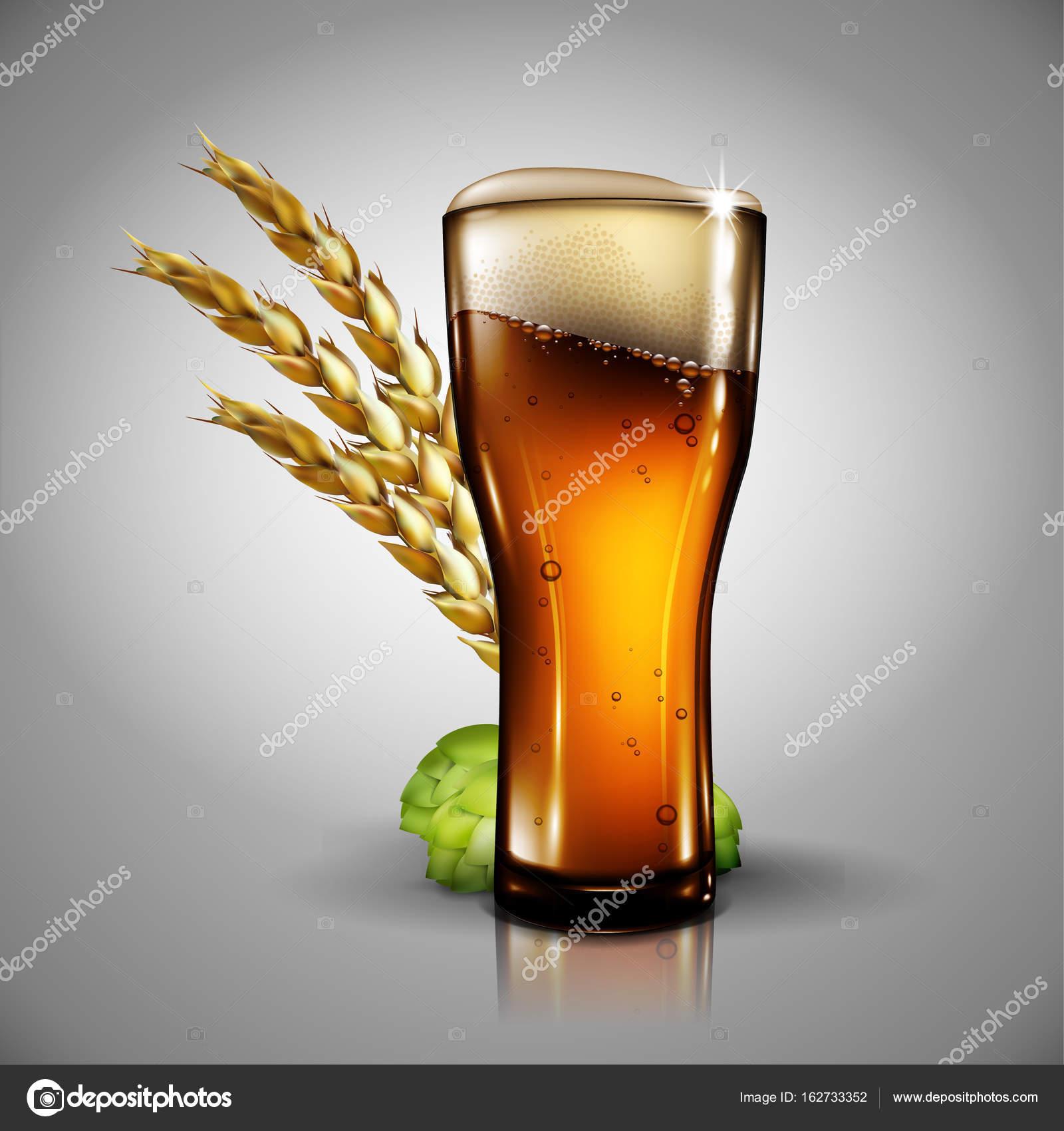 Effet De La Biere fond de bière. illustration très réaliste avec l'effet o — image