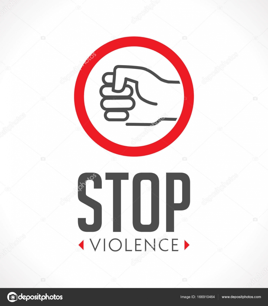 Logo stop violence against women concept fist as symbol of logo stop violence against women concept fist as symbol of violence stock vector buycottarizona Choice Image
