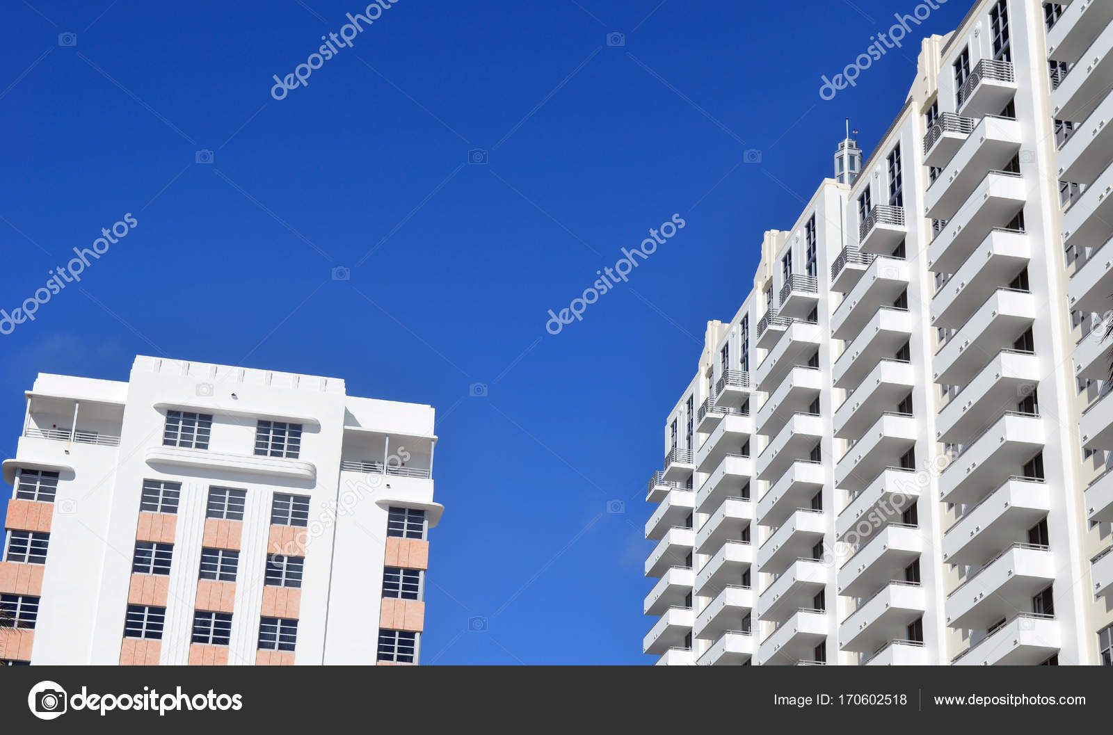 Miami Beach Art Deco And Modern Architecture Stock Photo