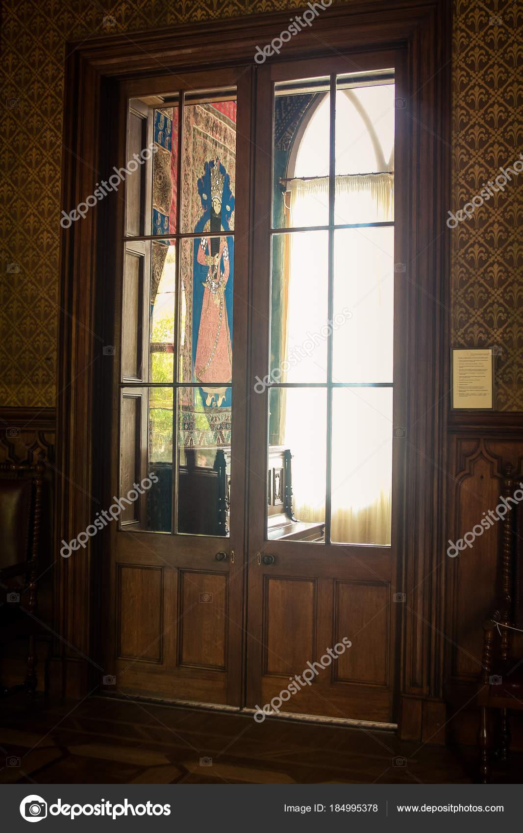 Vorontsov Palace Room Interior Picture Wall Glass Corridor Door Crimea Stock Photo