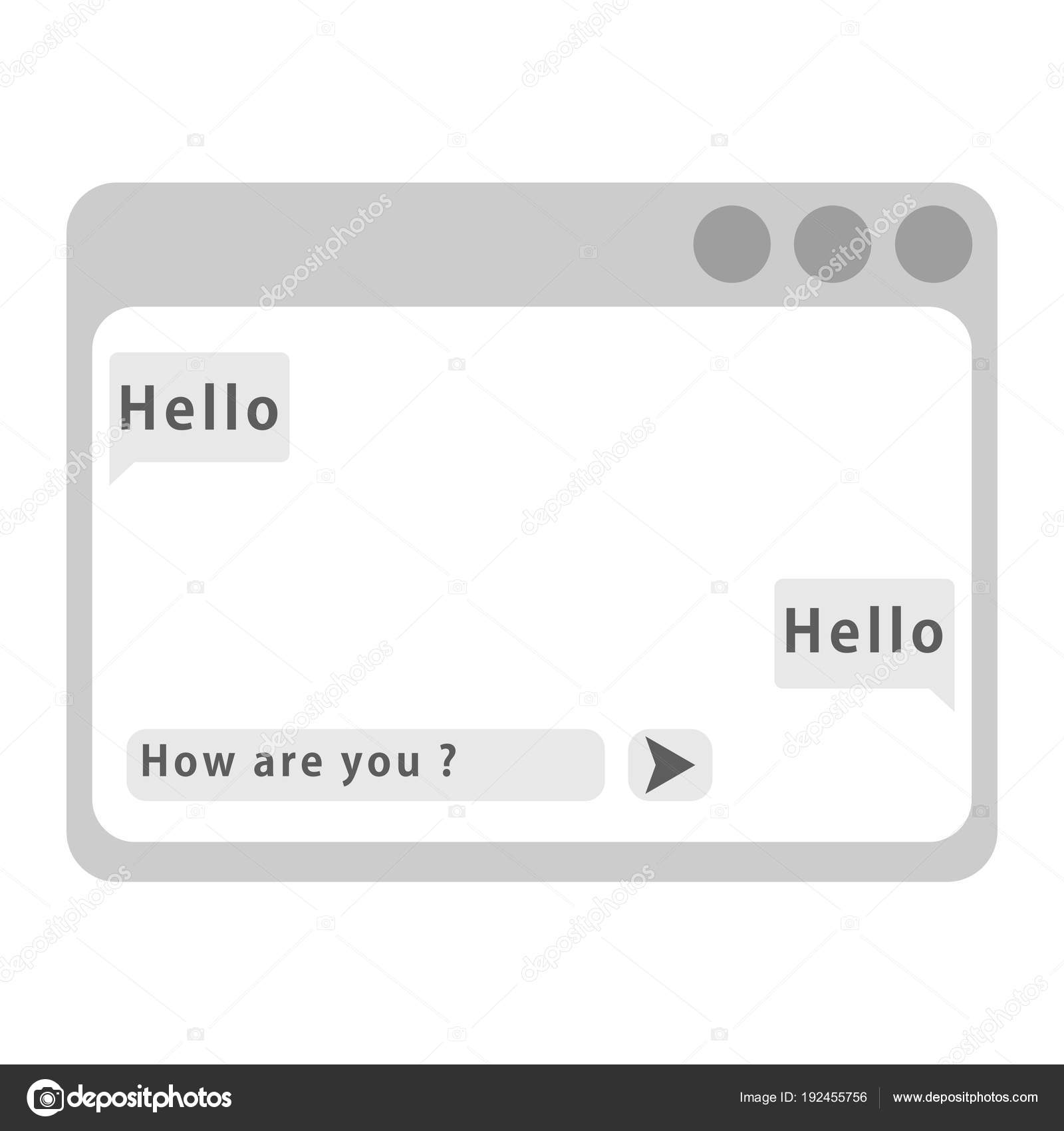 Vektor-Chat-Rahmen. Web-Fenster — Stockvektor © severynvlad.gmail ...