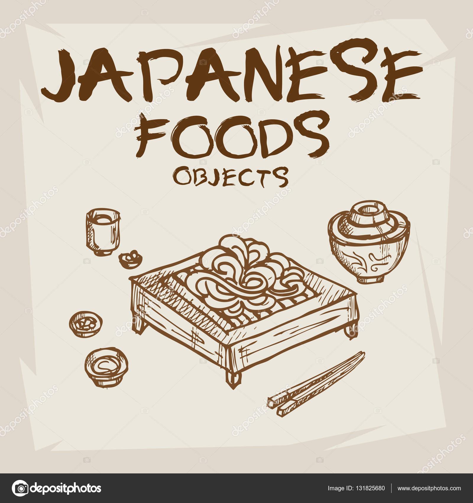 Japonske Jidlo Kresba Stock Vektor C Foontntd 131825680