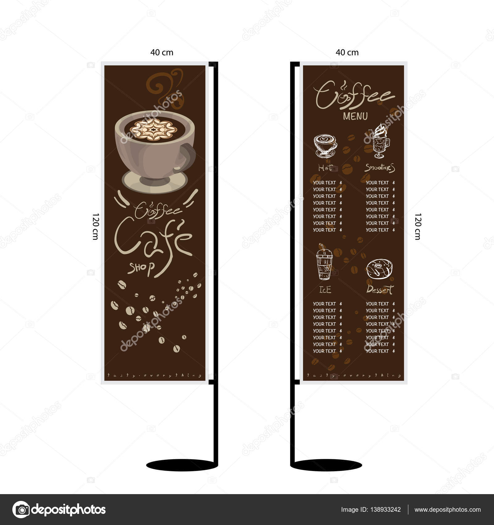 Coffee Menu Graphic Design Objects Template Vector By Foontntd