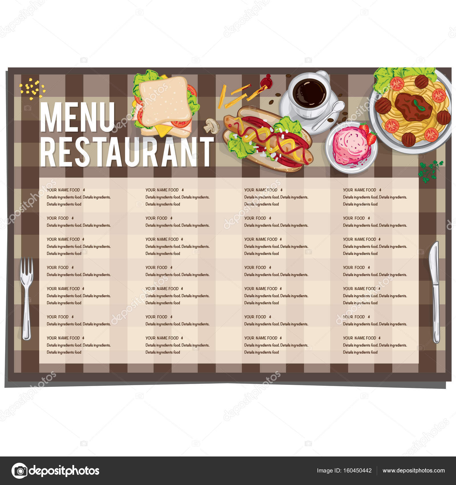 Dorable menu restaurant template gallery resume ideas for Restaurant layout templates