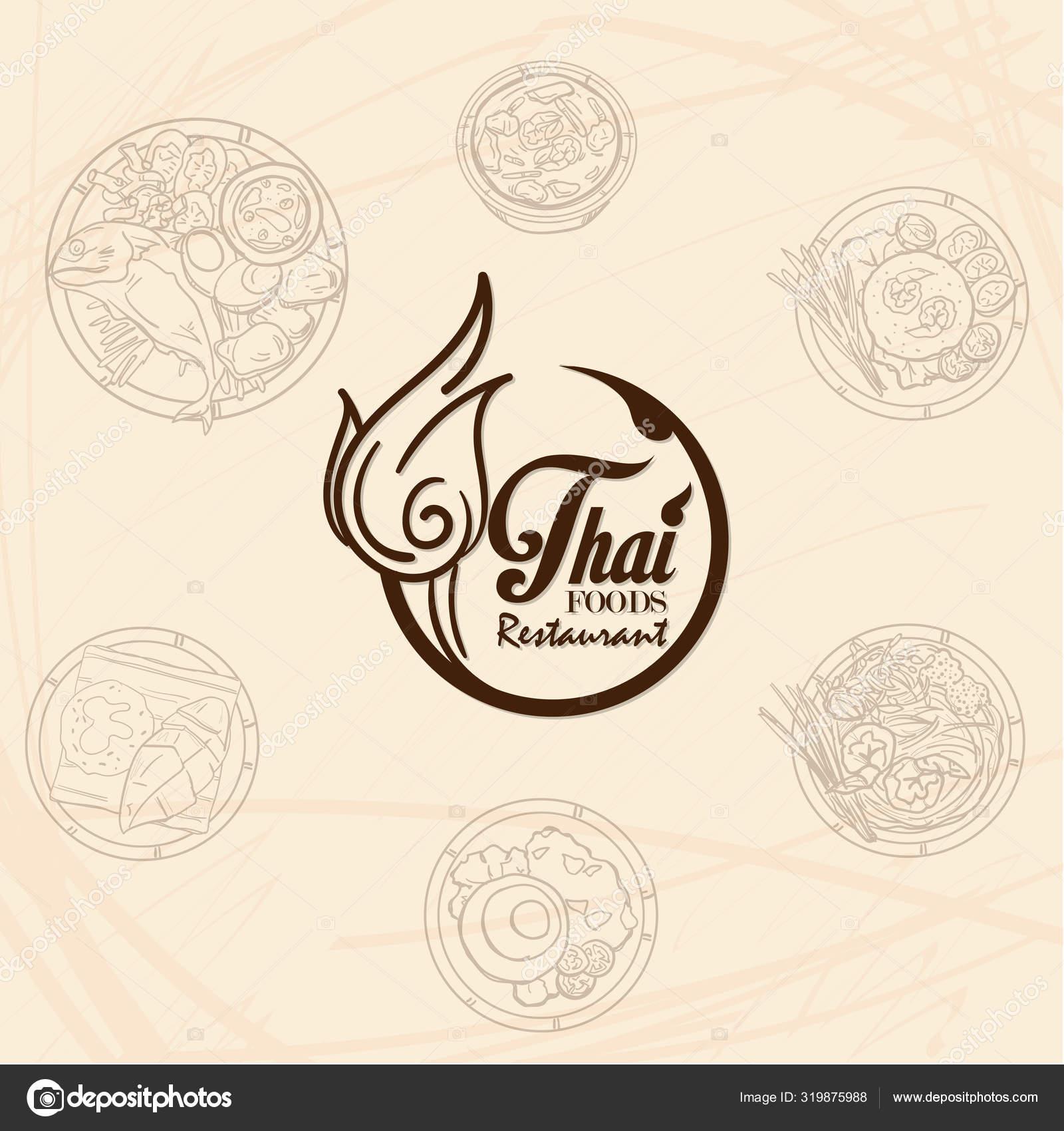 Thai Food Restaurant Logo Icon Graphic Stock Vector C Foontntd 319875988