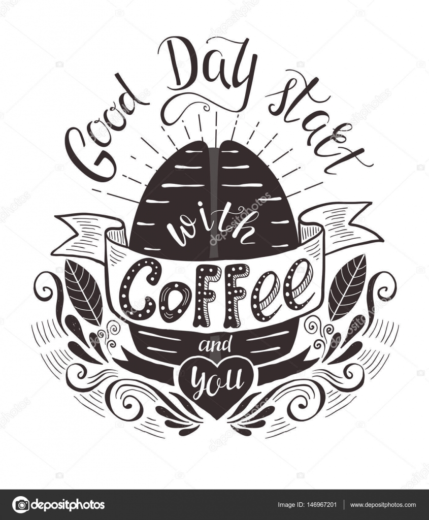 Banner With Coffee Bean And Quote Stock Vector C Nuraschka