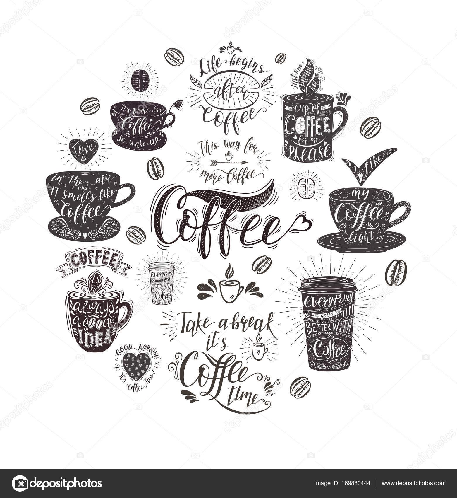 banner coffee quotes stock vector © nuraschka