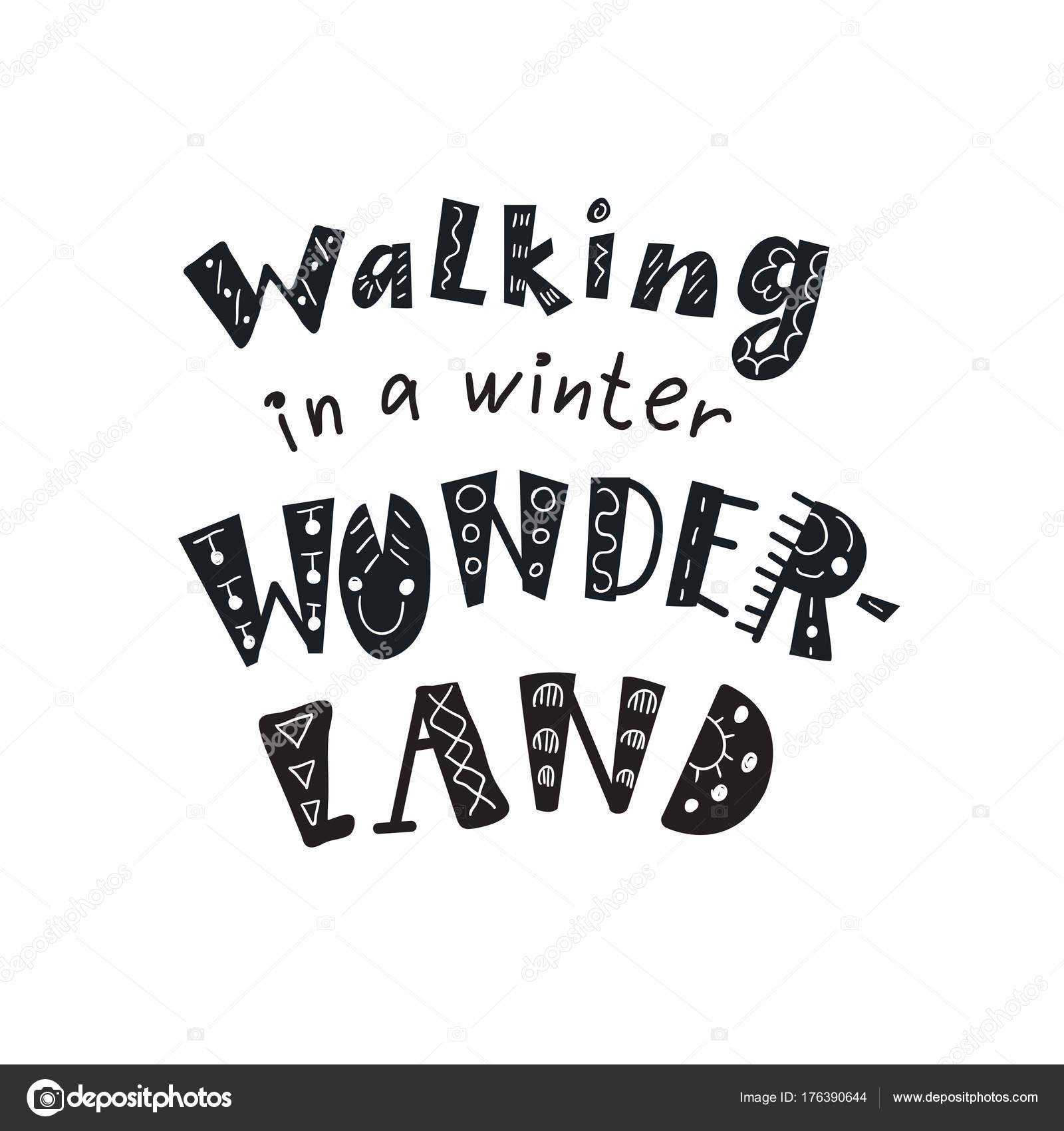 Winter Quotes And Phrases Hand Drawn Lettering With Decorative
