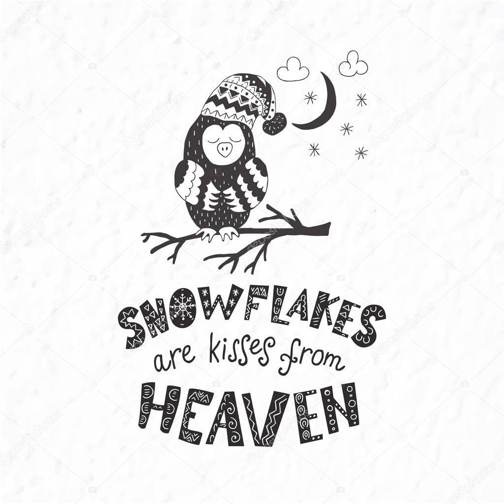 Citaten Over Uilen : Winter briefkaart met citaten en zinnen grappige uil