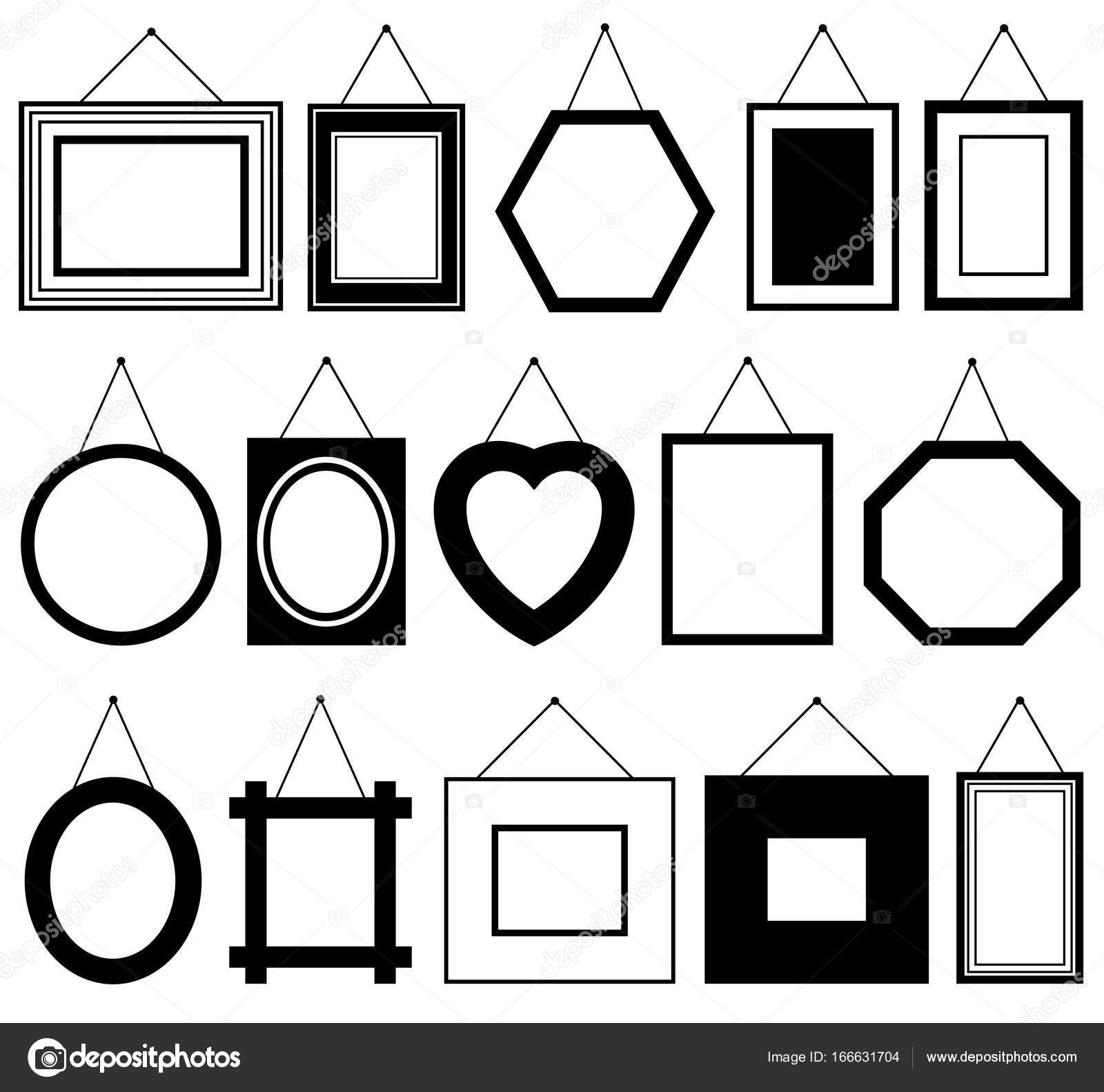 Set of different picture frames — Stock Vector © DeCe11 #166631704