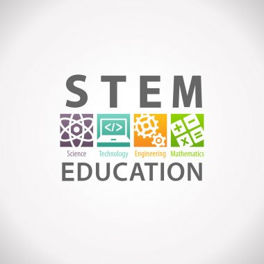 STEM Education Concept Logo. Science Technology Engineering Mathematics. stock vector
