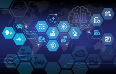 Artificial Intelligence Automation Infographic Background