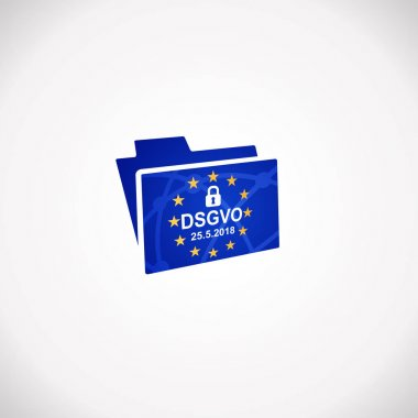 DSGVO General Data Protection Regulation  Notification Icon