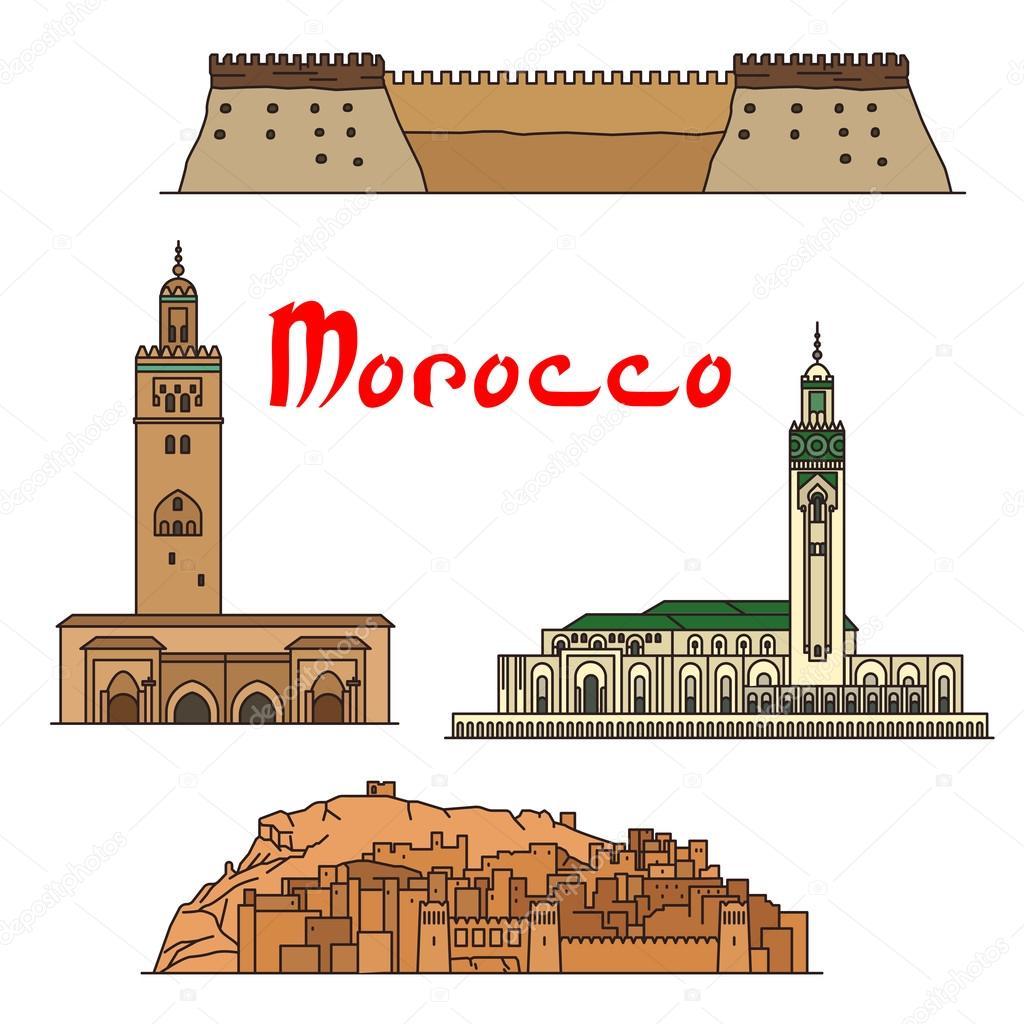 モロッコの歴史的建造物や施設や...