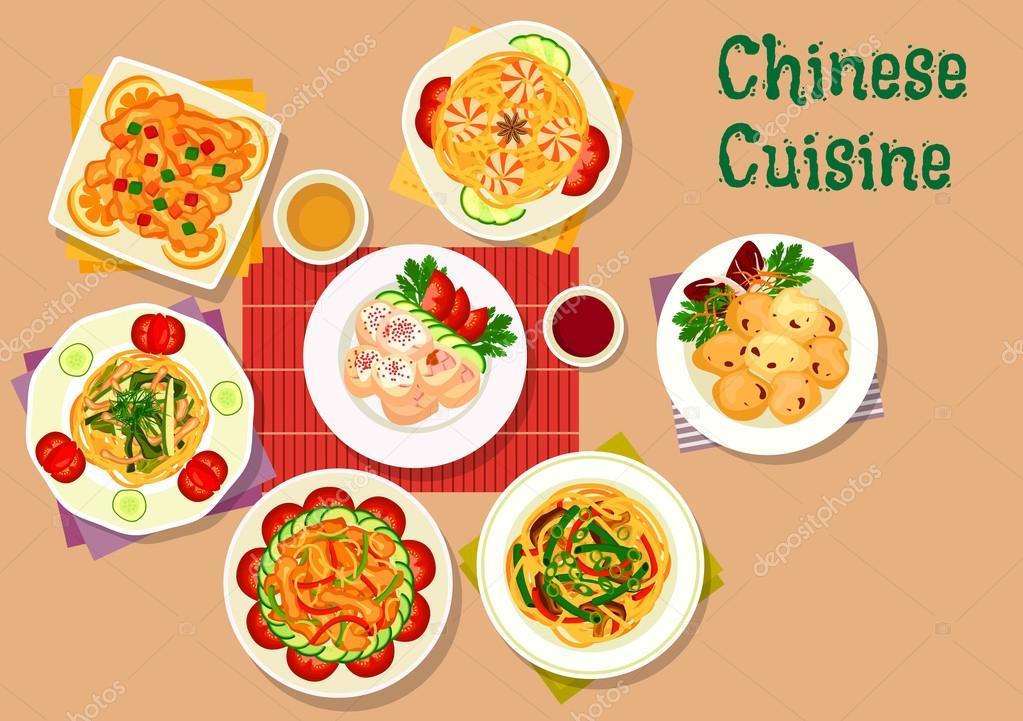 Chinesisches Symbol für Restaurant-Menü-design — Stockvektor ...