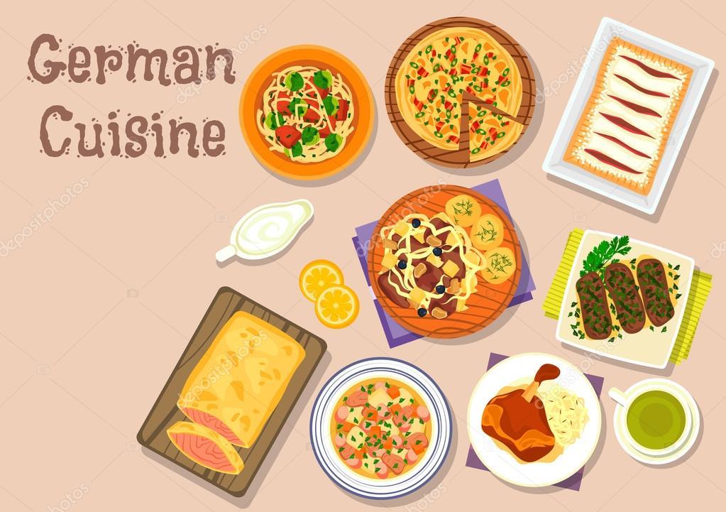 Icono de comida cocina alemana de diseño de menú — Archivo Imágenes ...