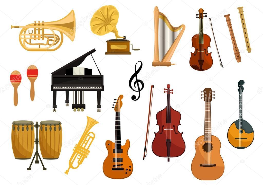 Ícones Do Vetor De Instrumentos Musicais