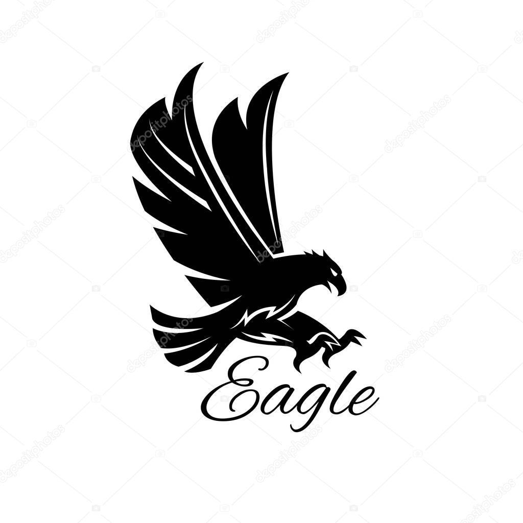 139a197a9 Eagle hawk vector black heraldic icon — Stock Vector © Seamartini ...