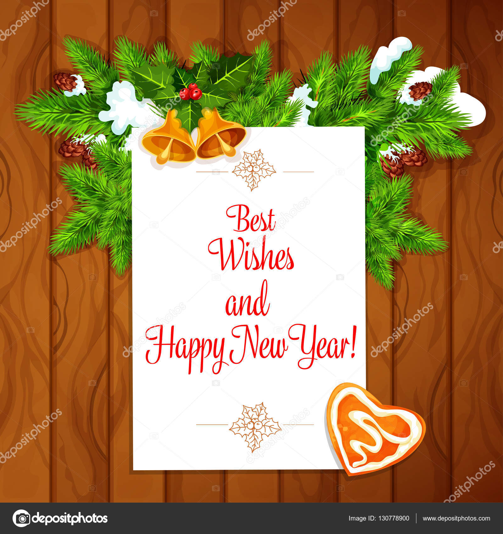 New year best wishes vector poster stock vector seamartini new year best wishes vector poster stock vector 130778900 kristyandbryce Image collections